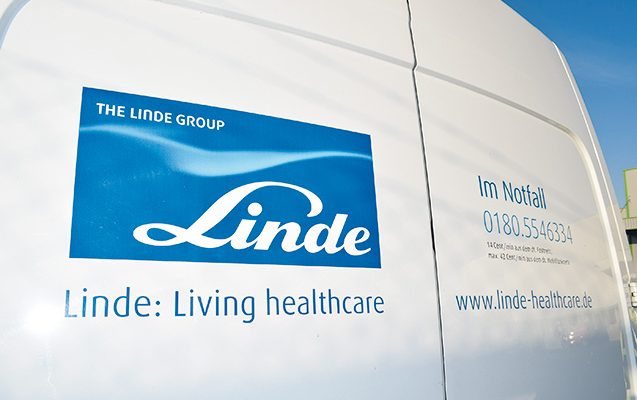 A Linde oxygen vehicle