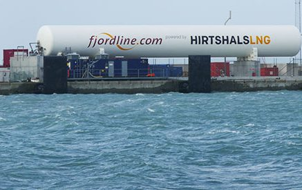 In Hirtshals, Denmark, there is an LNG emergency tank