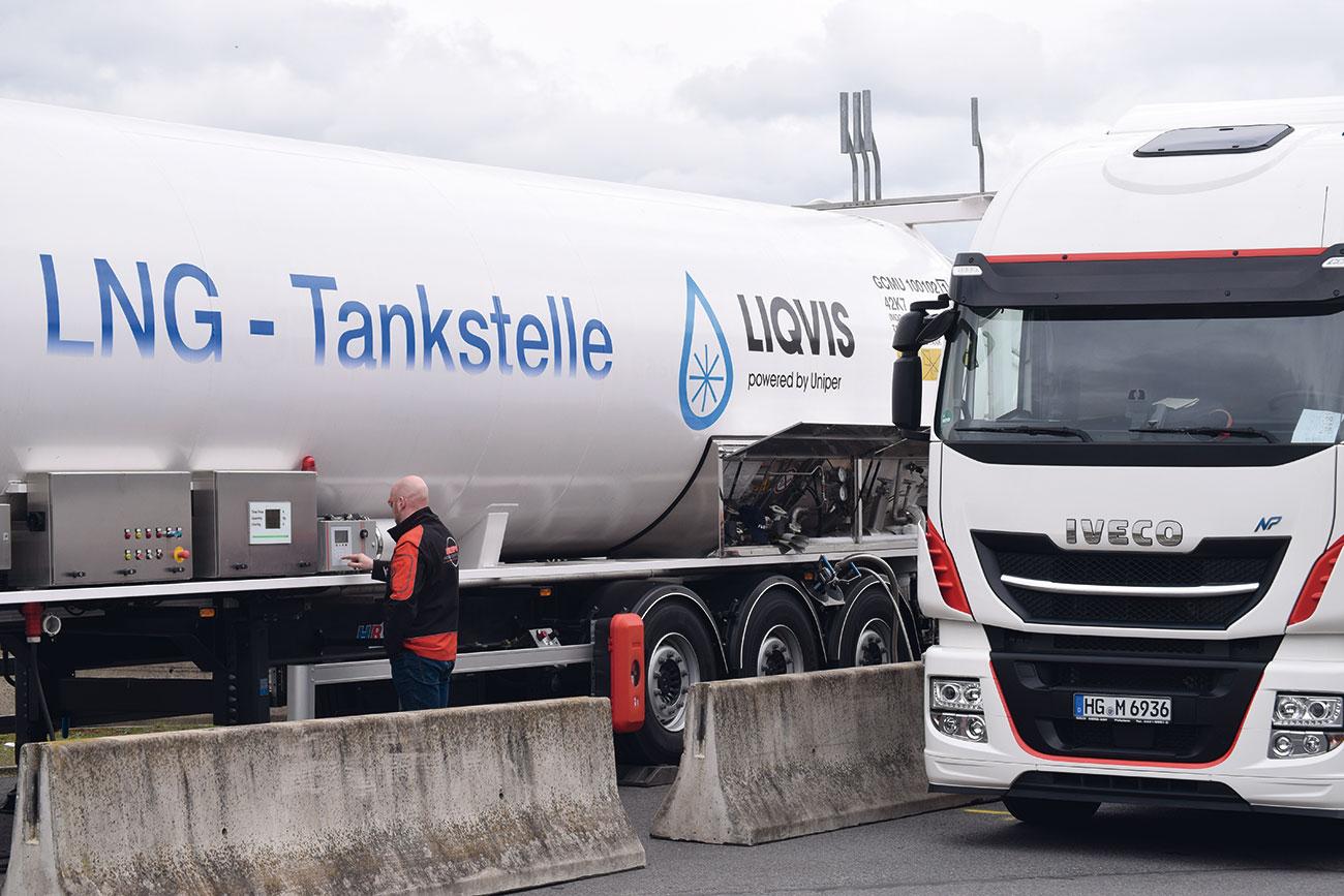 LNG-Tankstelle
