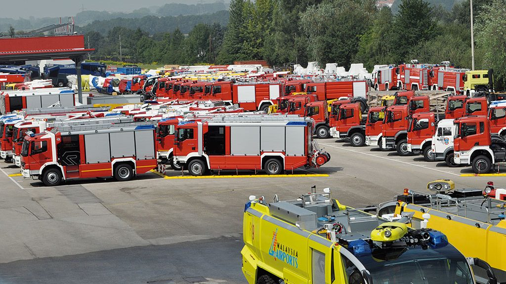 The Rosenbauer delivery park