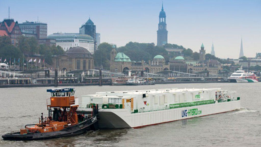 Die LNG-Barge