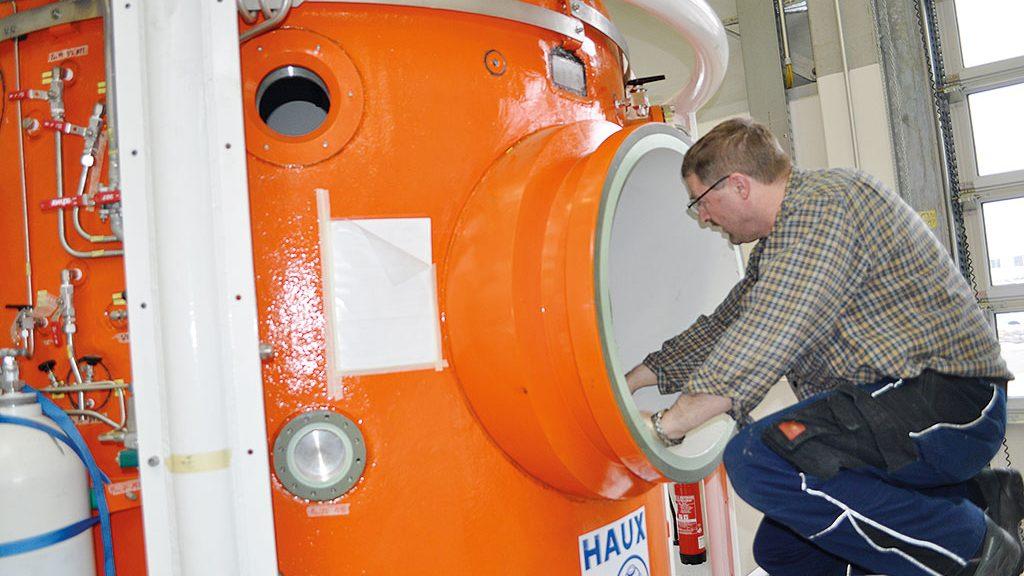 Druckkammer für Taucher