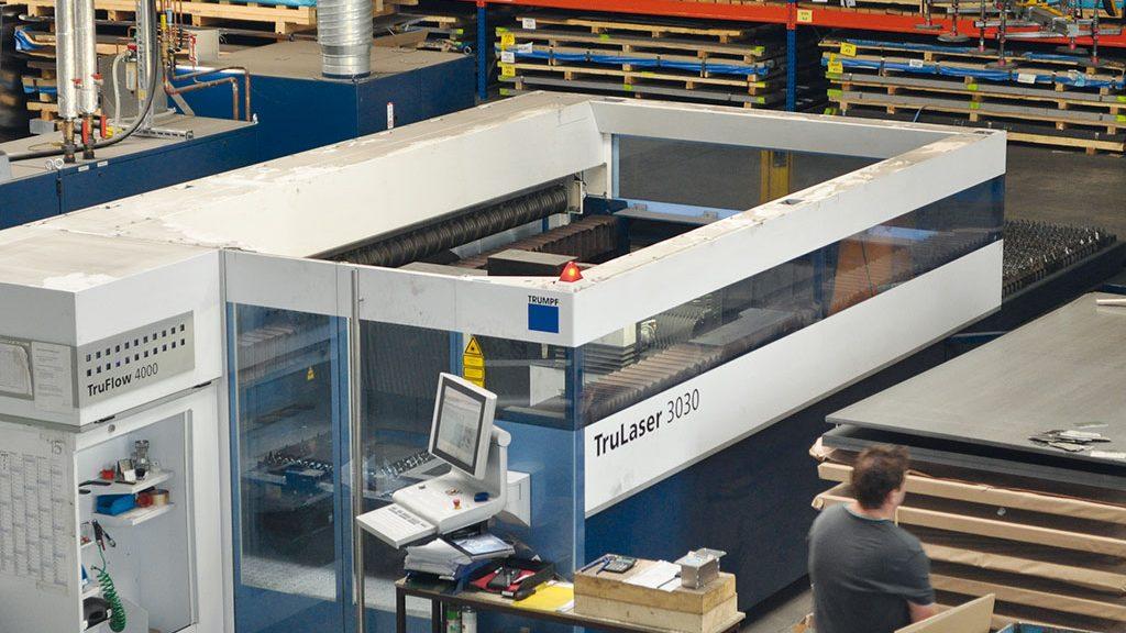 Eine der Laseranlagen