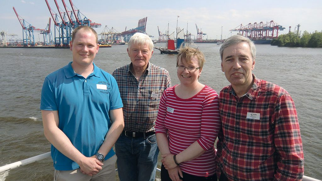 Helmut Rohde and the team from HEROSE to the Harbour Birthday in Hamburg