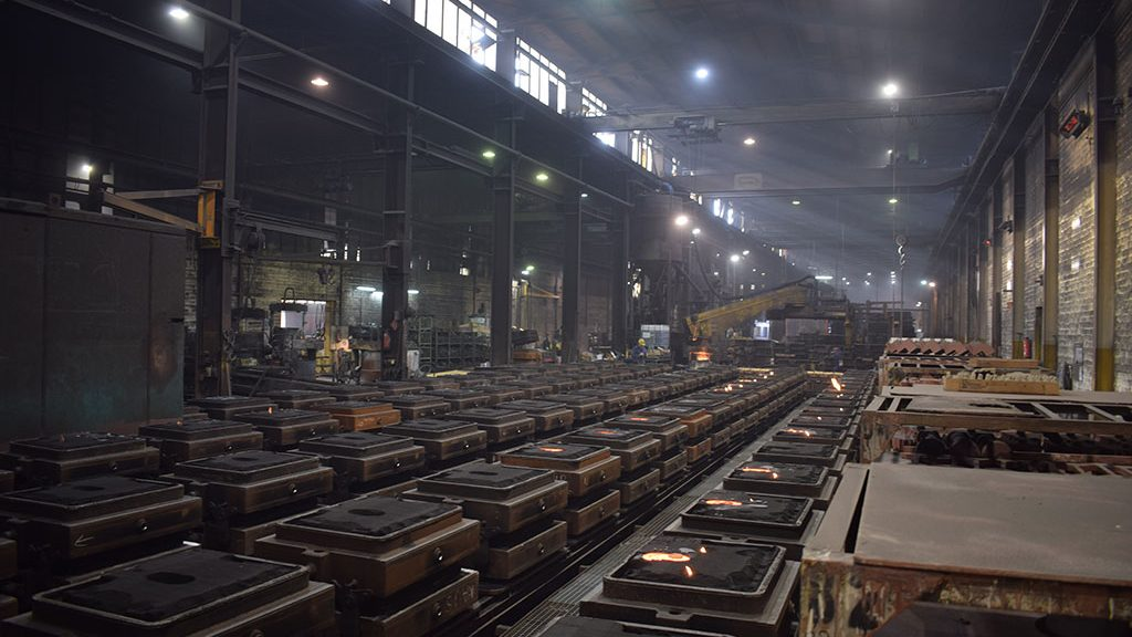 A look into the hall of the ironworks